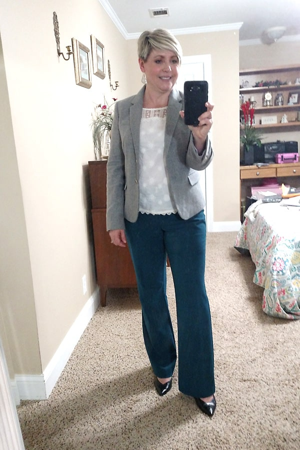 wool blazer for work