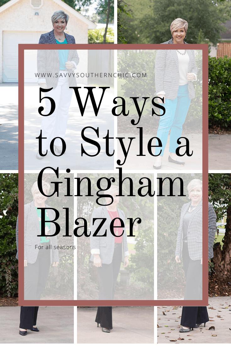 5 ways to style a gingham blazer