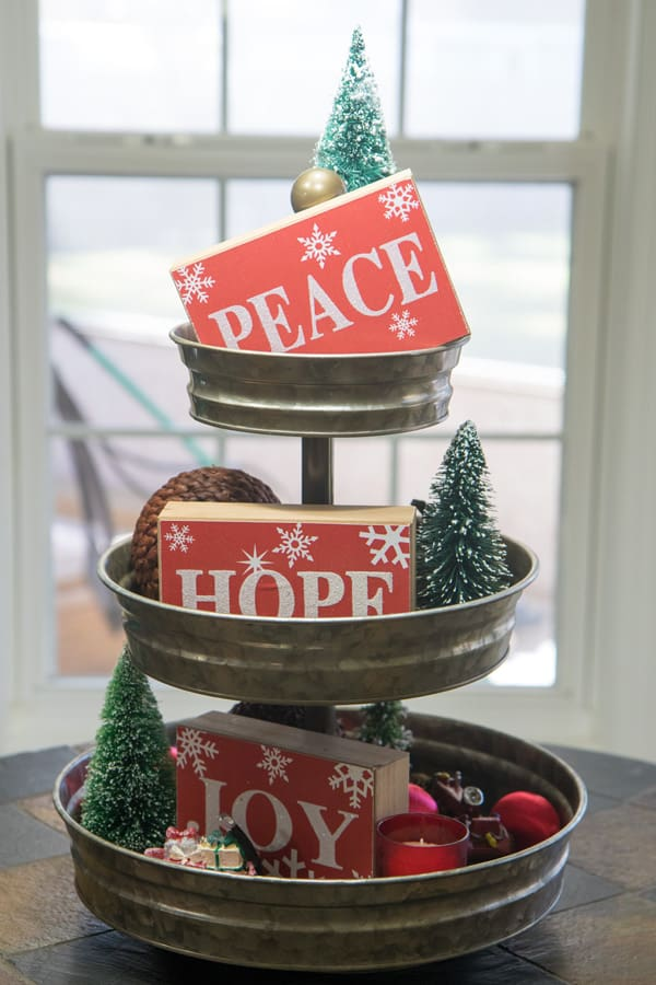 Christmas favorites tiered tray