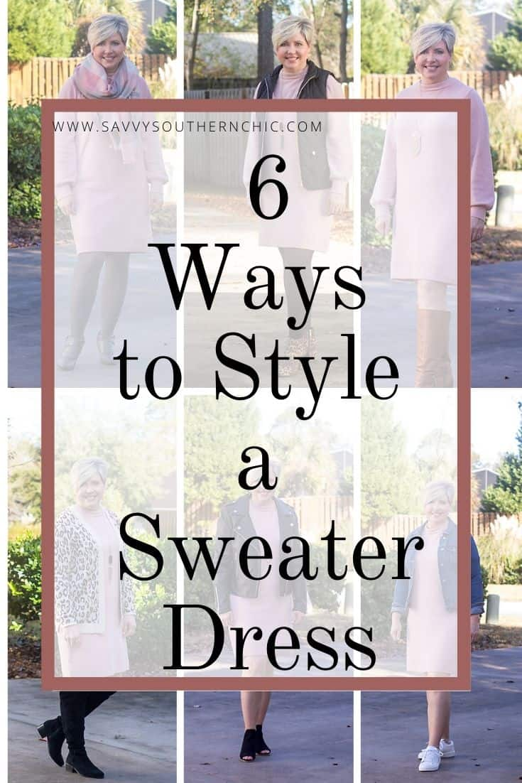 A Really Good Sweater Dress Styled 6 Ways