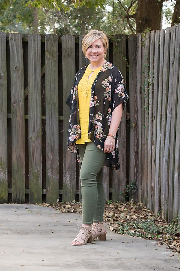 fall kimono outfit