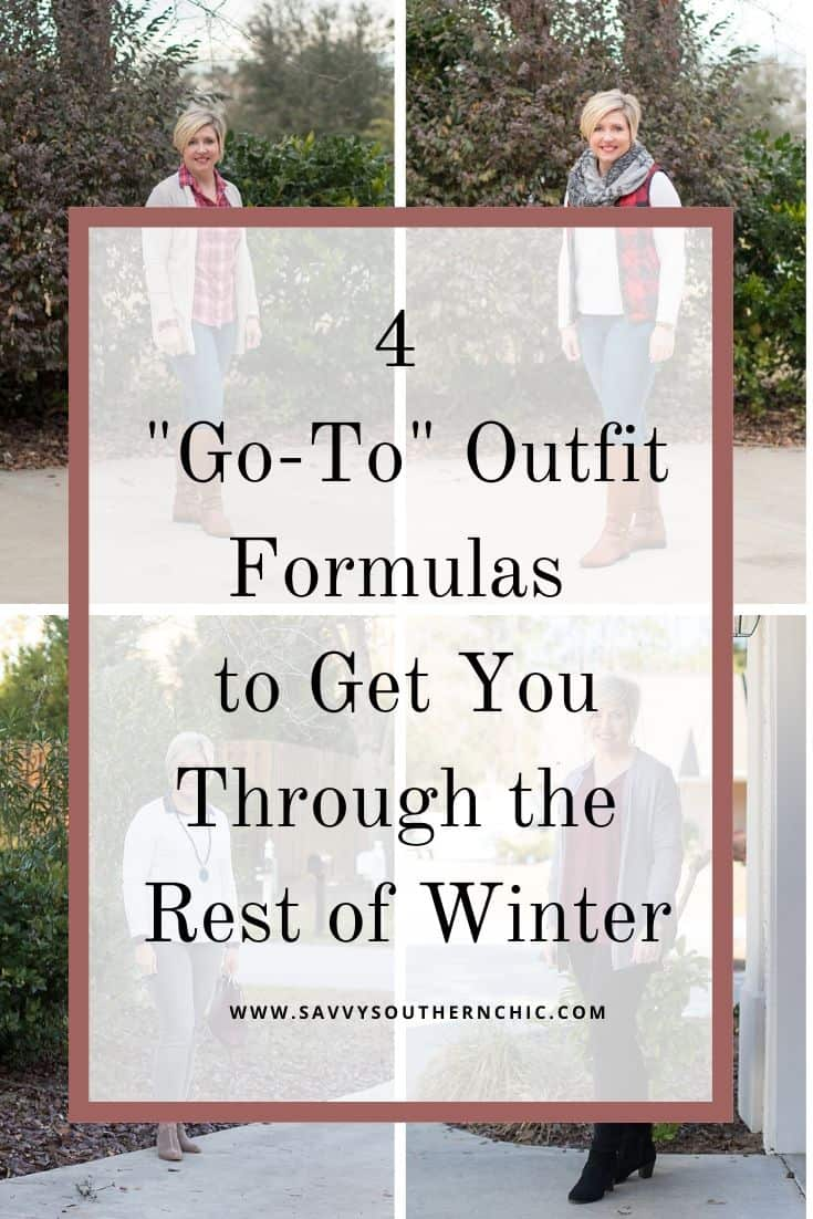 Four go to outfit formulas to get you through the rest of winter
