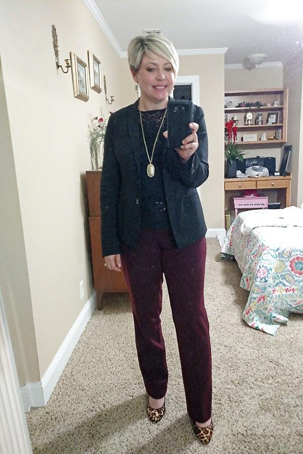 black blazer for work