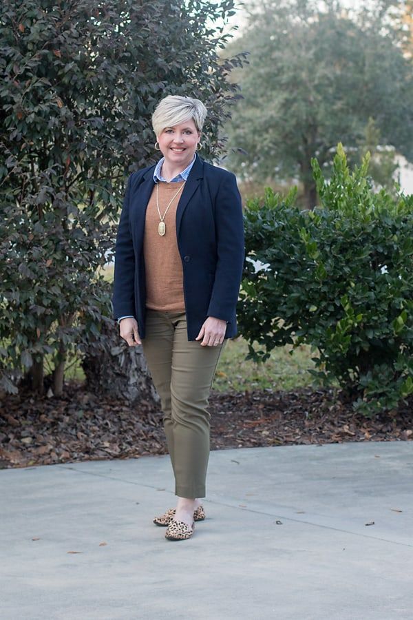 layered office outfit