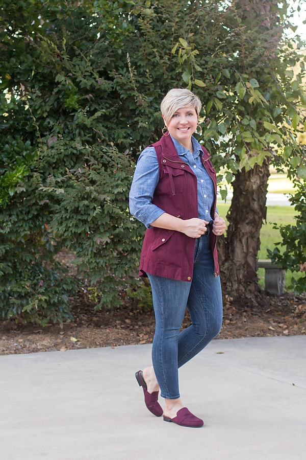 loafer mules fall outfit