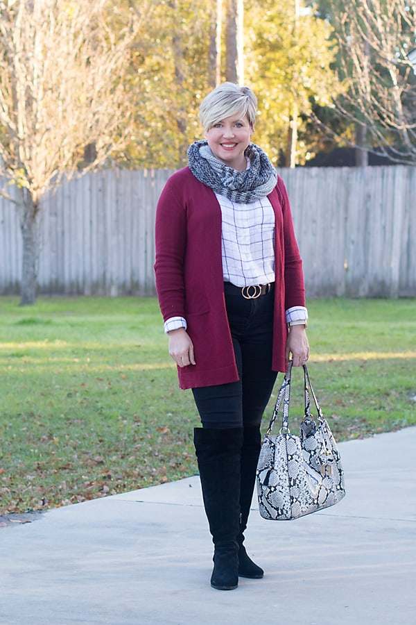 cardigan and black jeans