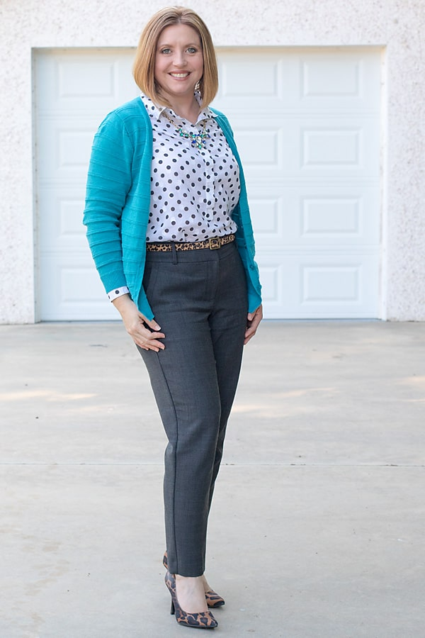 polka dots with leopard