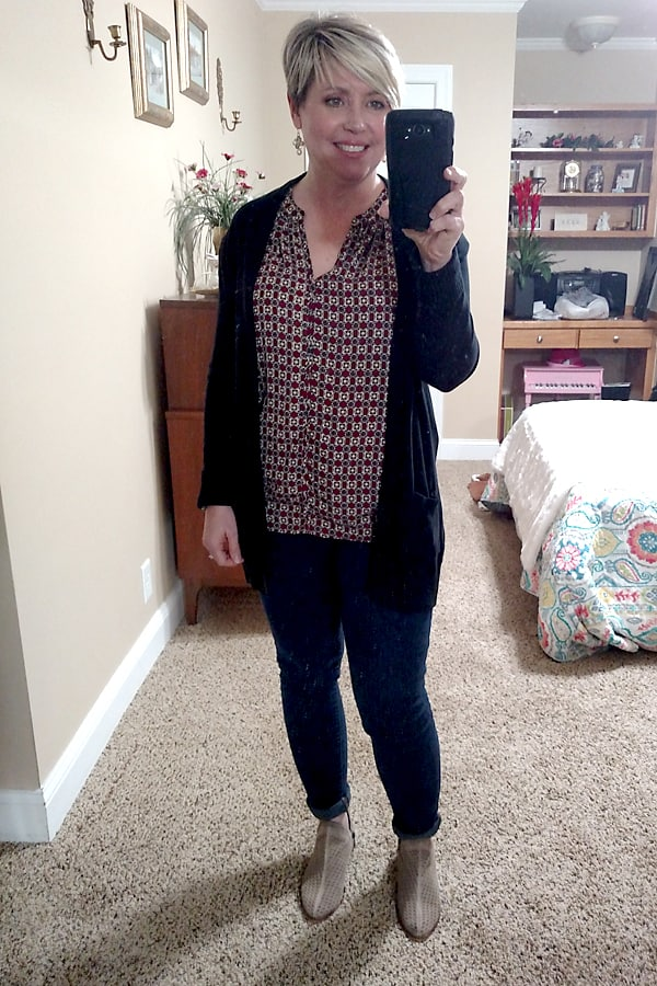 casual cardigan outfit