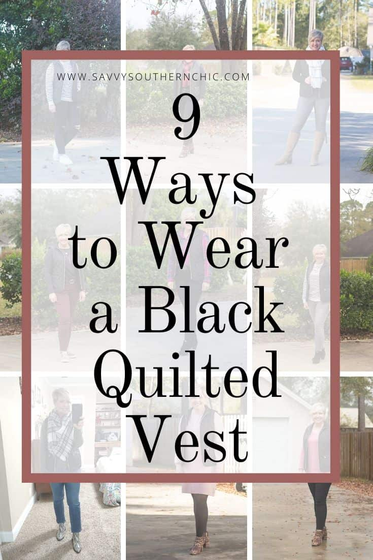 9 Ways to Wear a Black Quilted Vest