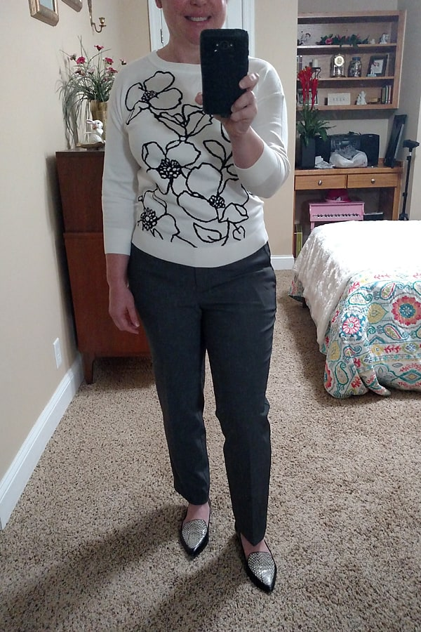 Ann Taylor sweater and ankle pants