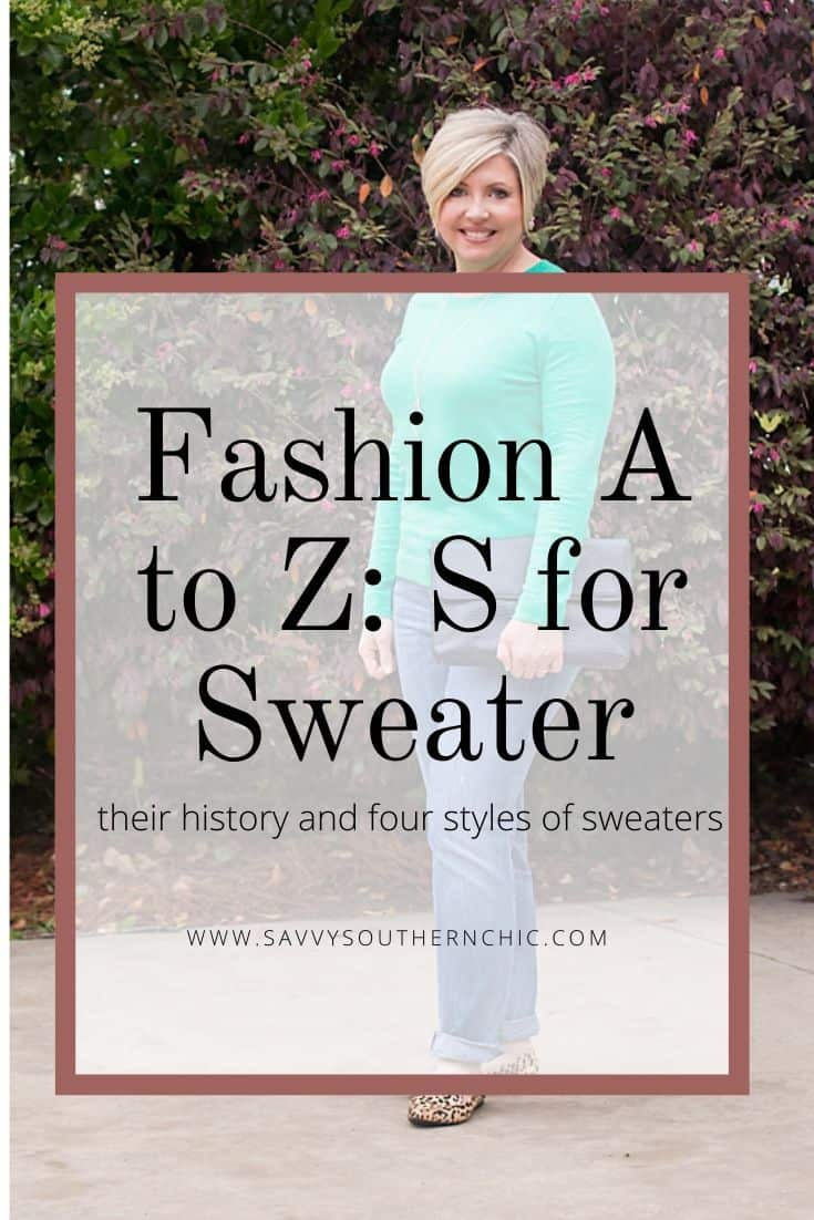 Fashion A to Z: S for Sweater