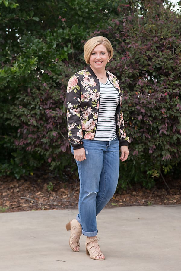 floral bomber jacket for spring