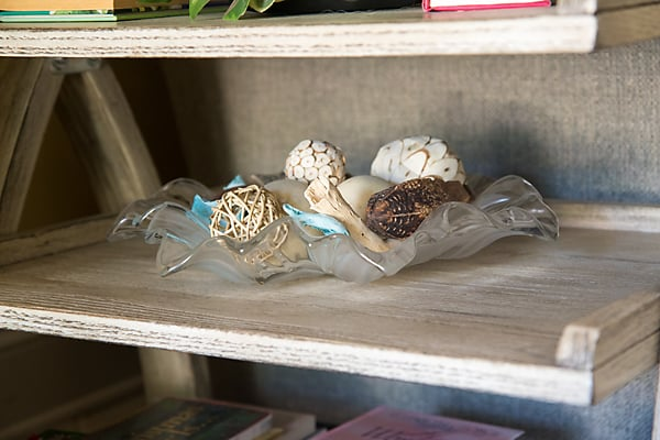 decorative filler in glass bowl home decor