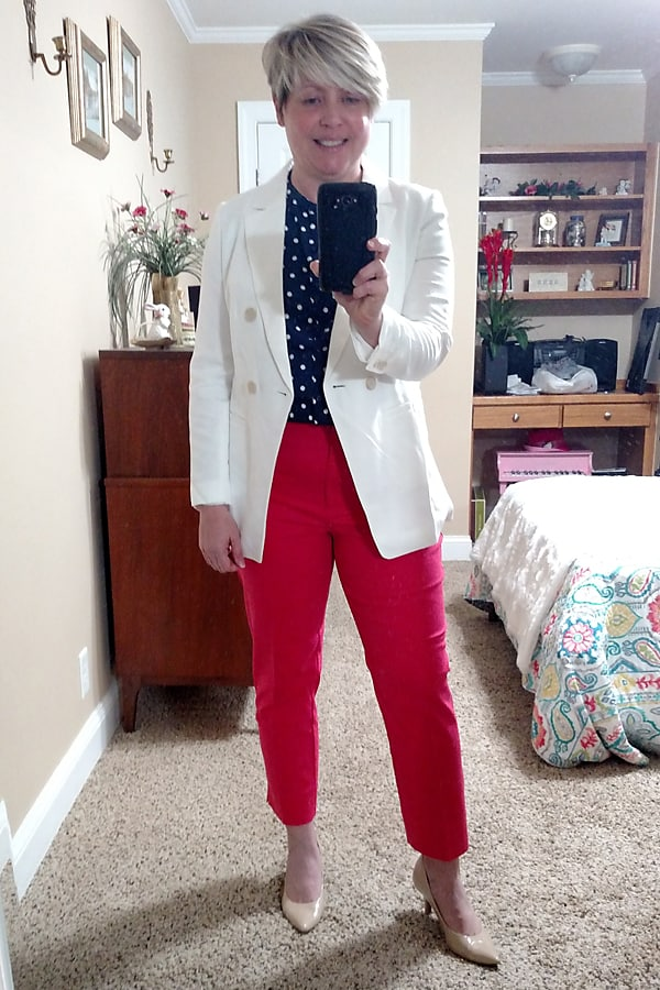 Spring try on Old Navy and Loft