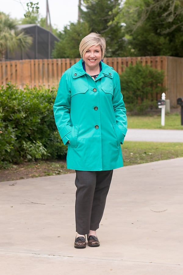 spring trench rain coat