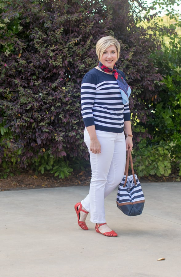 striped sweater, nautical stripes