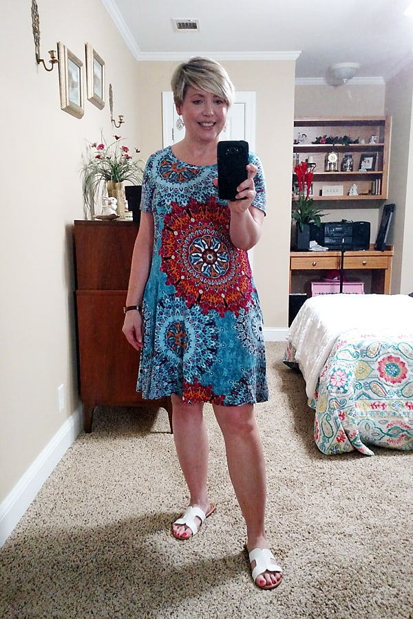tee shirt dress, casual and easy outfit
