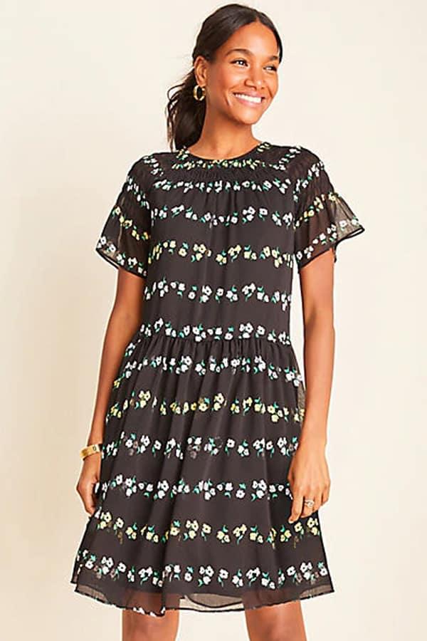 dropped waistline dress