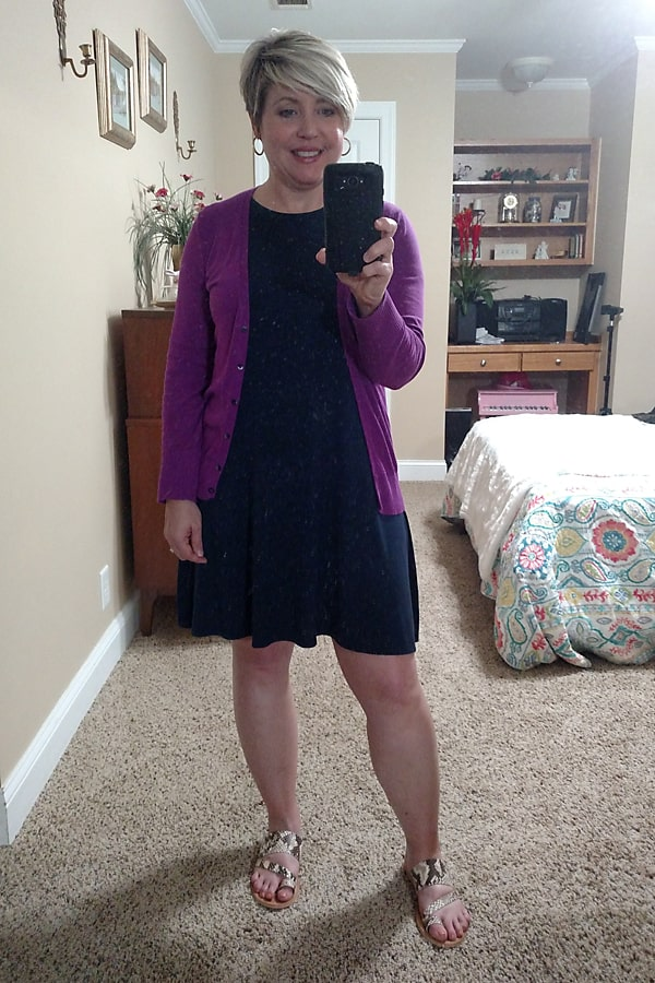 t-shirt dress outfit with cardigan, stay at home outfit