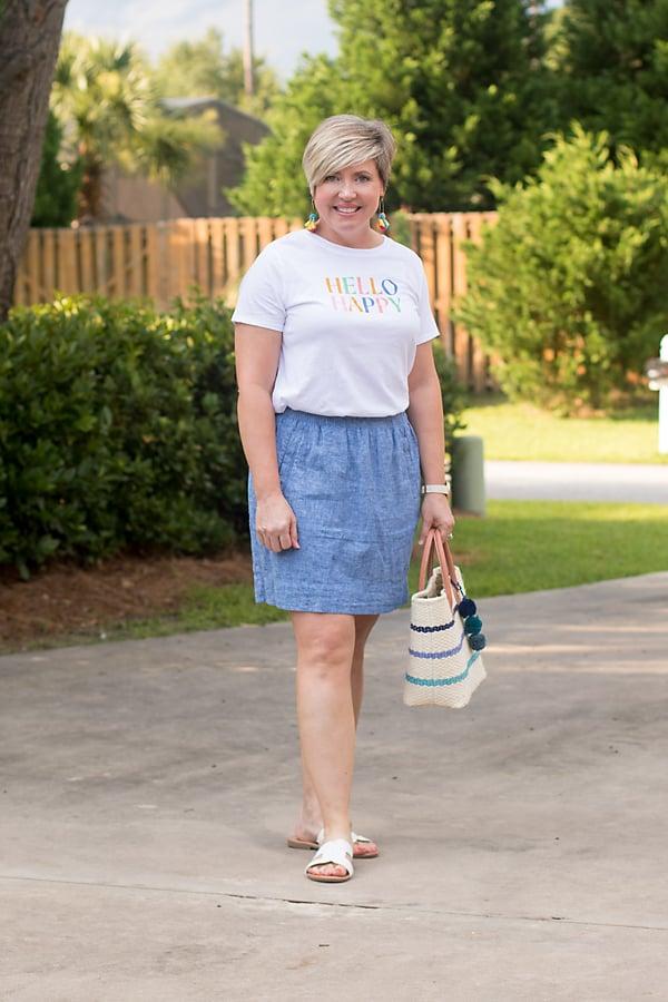 Reader favorite chambray skirt