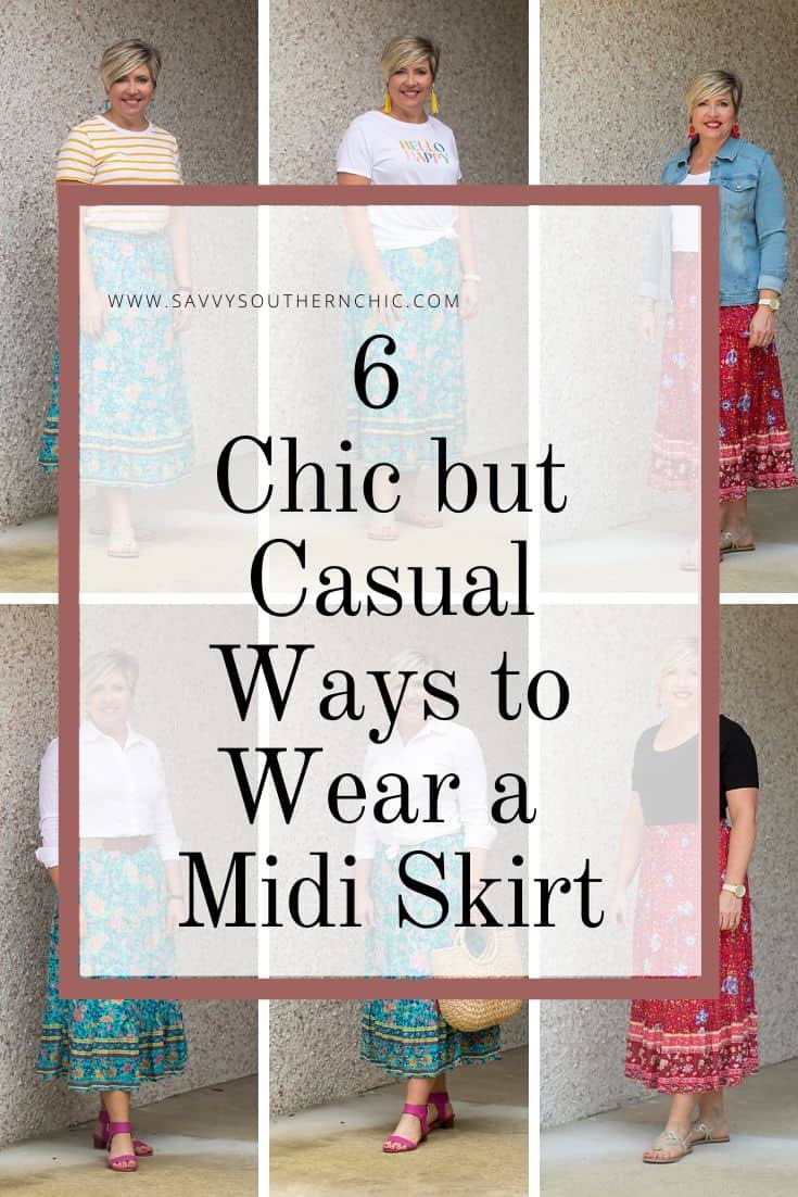 6 Chic but Casual Ways To Wear A Midi Skirt This Summer