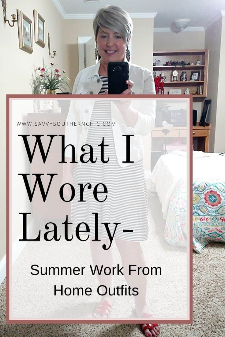 outfits and fashion for women over 40; summer work from home outfits