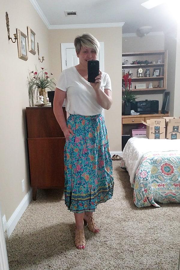 summer boho skirt