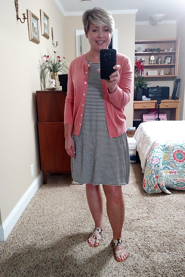 casual summer outfit with dress