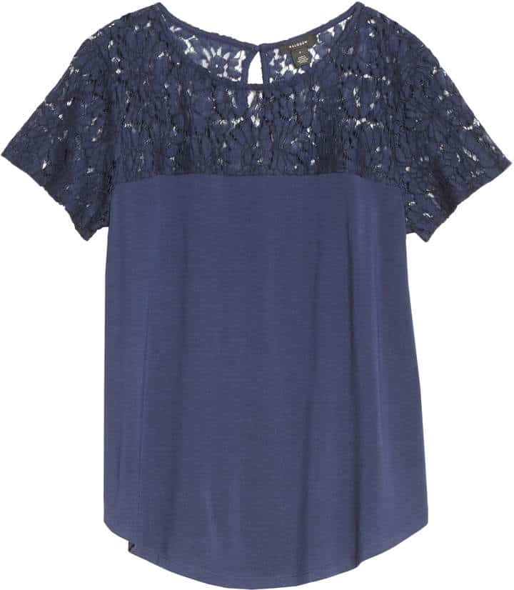 lace yoke top, interesting yokes in tops