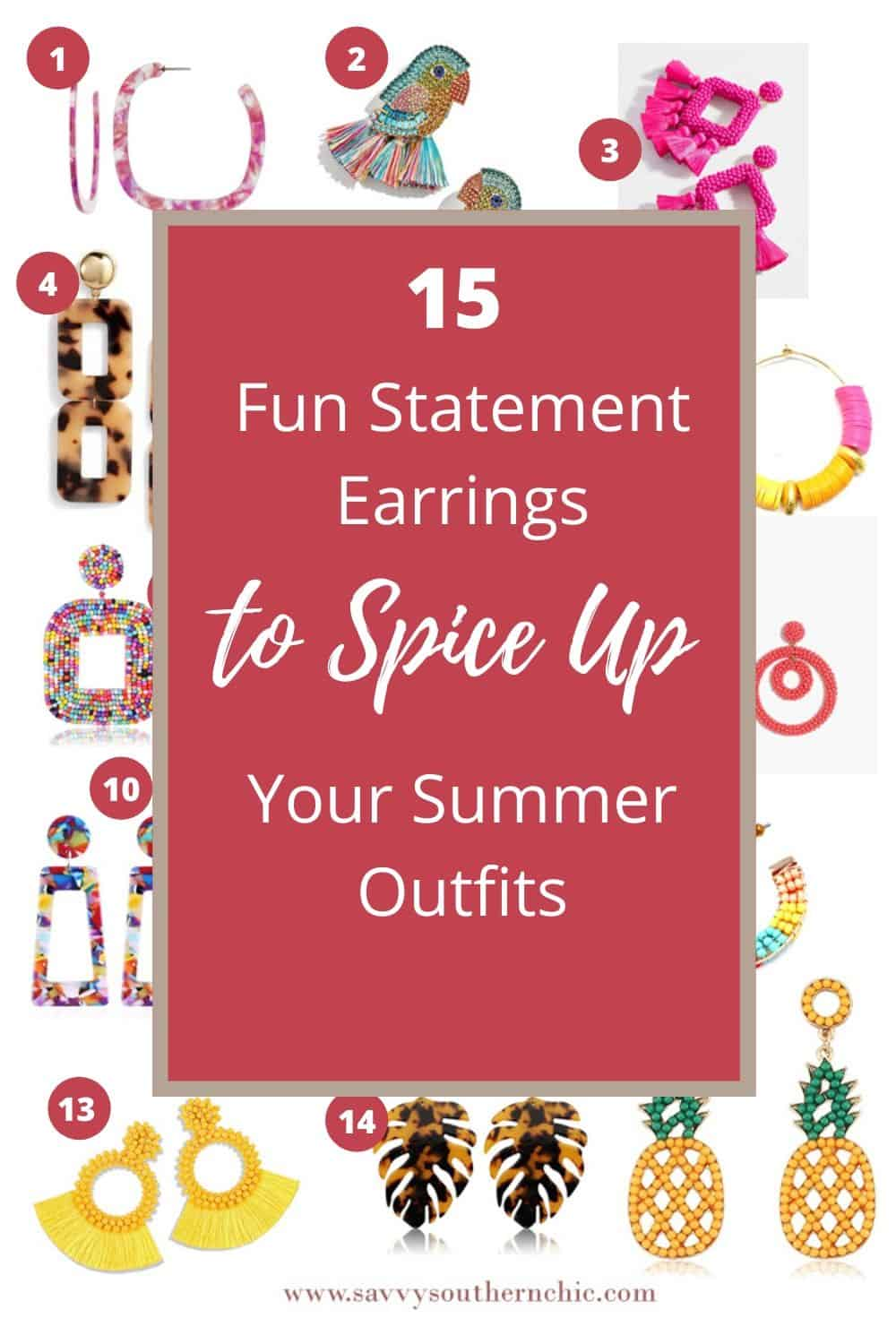 15 Fun Statement Earrings to Spice Up Your Summer Outfits