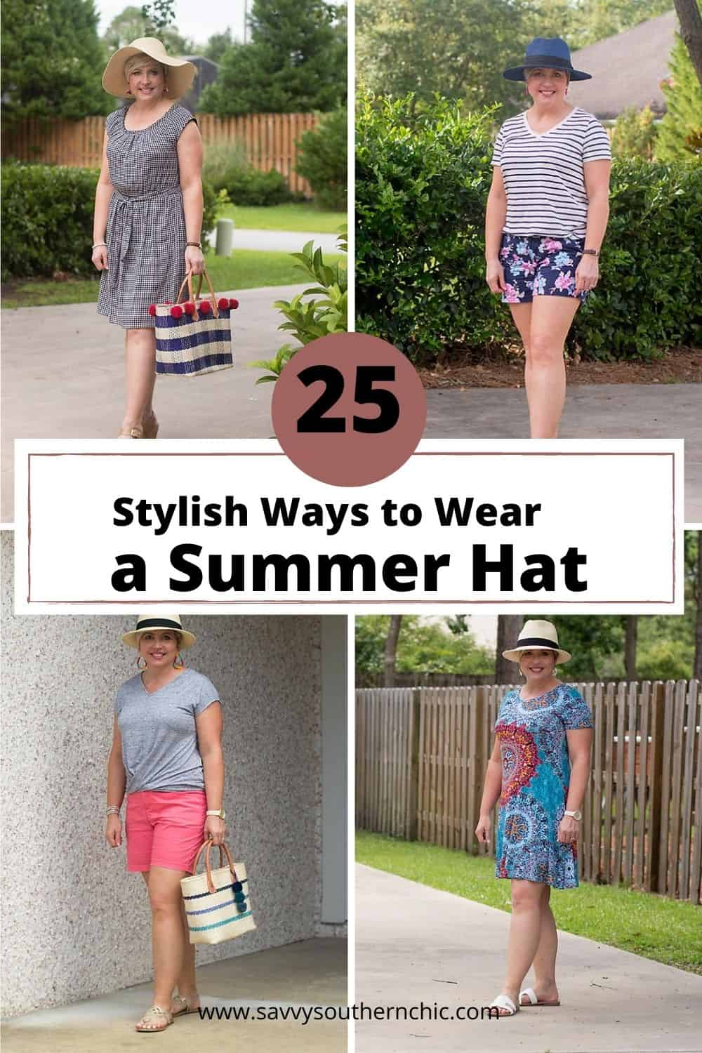 over 25 ways to wear a summer hat
