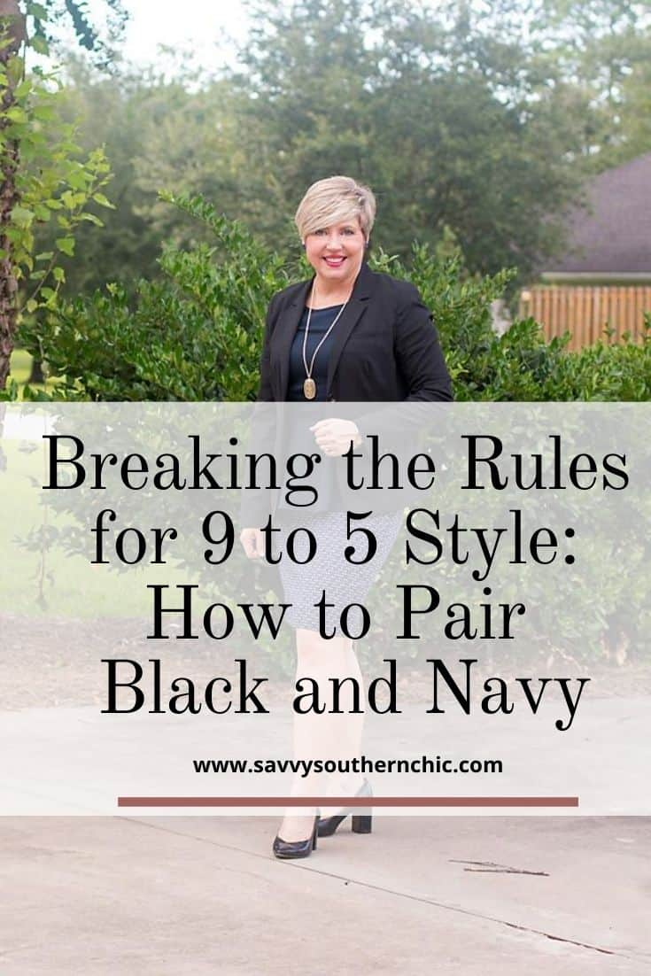 9 to 5 Style: Daringly Breaking the Rules- Black and Navy