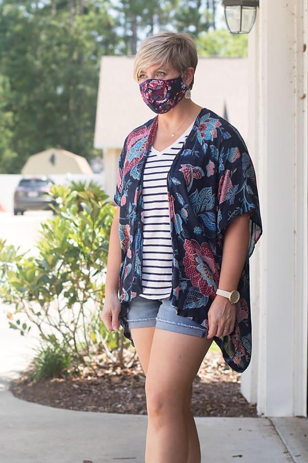 kimono and mask outfit