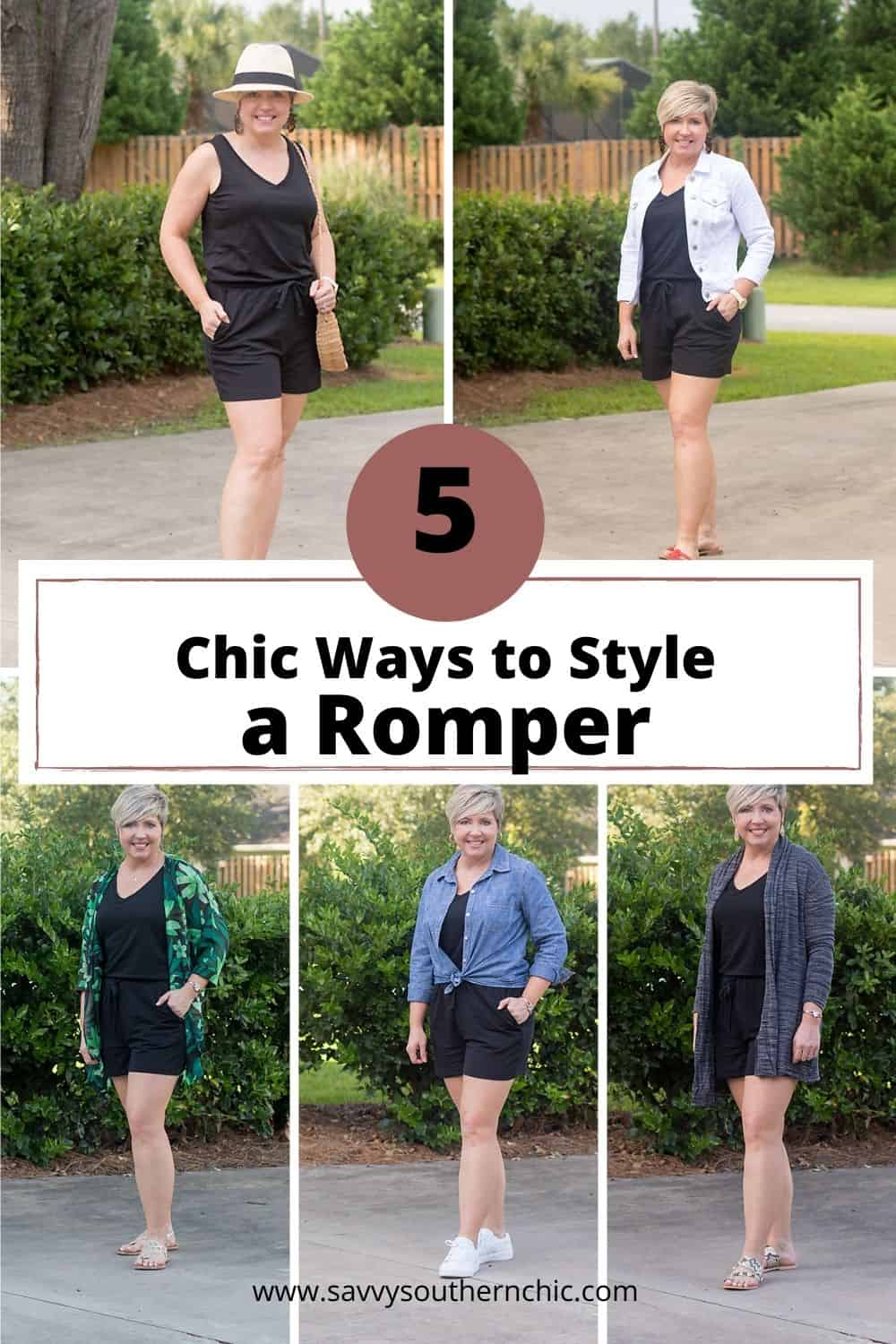 Ways to Style a Romper for summer and fall