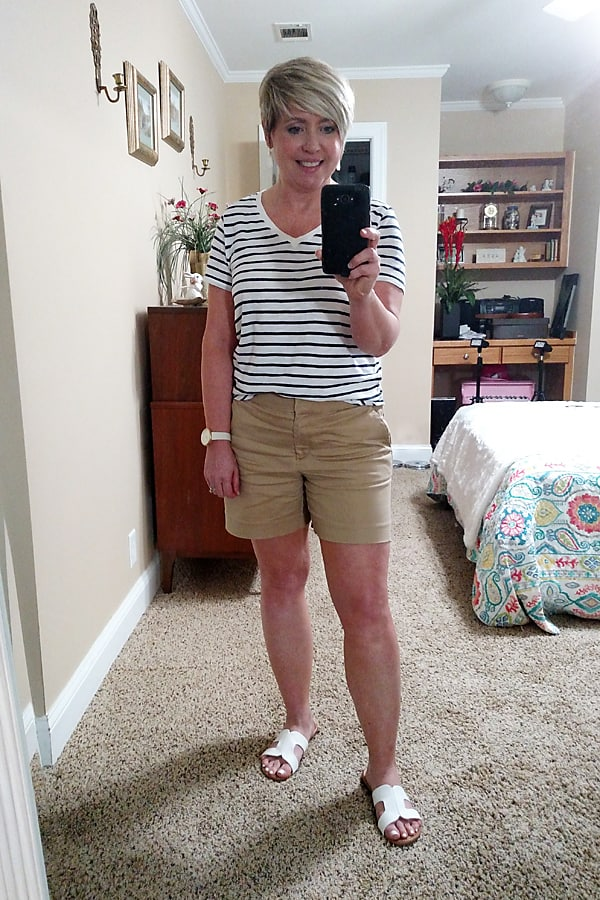 tshirt and shorts outfit