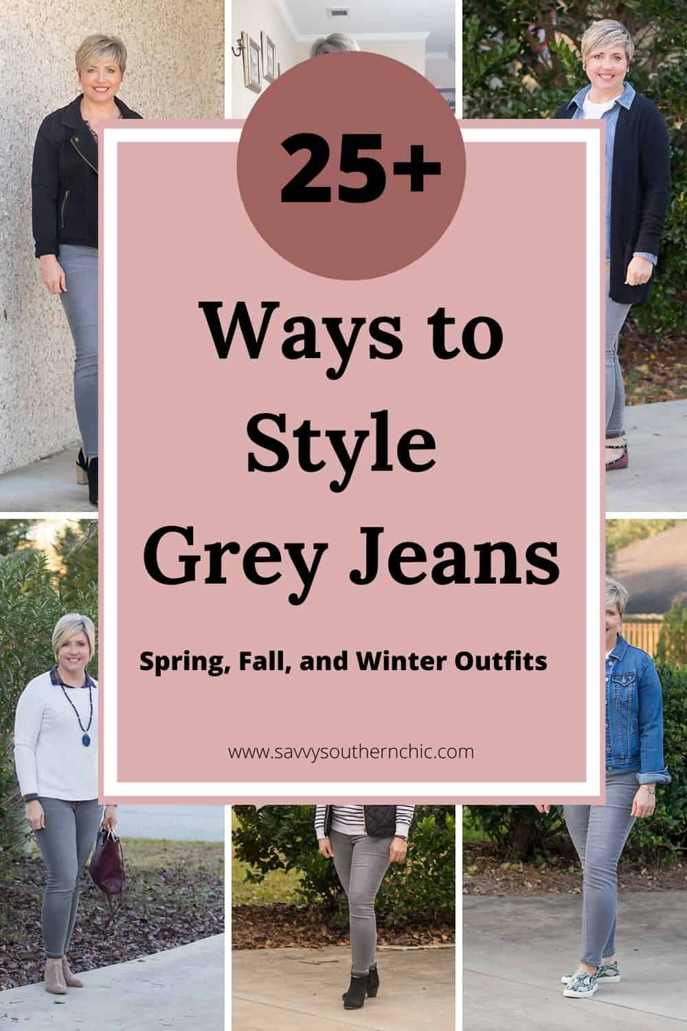Mega List Of  Ways To Wear Grey Jeans- 25+ Ways