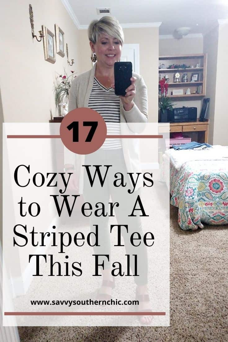 17 cozy ways to wear a striped tee this fall