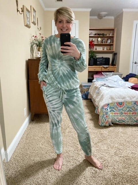 matching tie dye jogger set