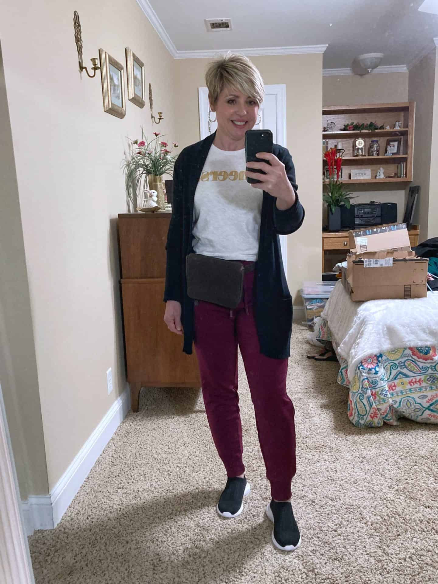 joggers and cardigan essentials for a fall wardrobe