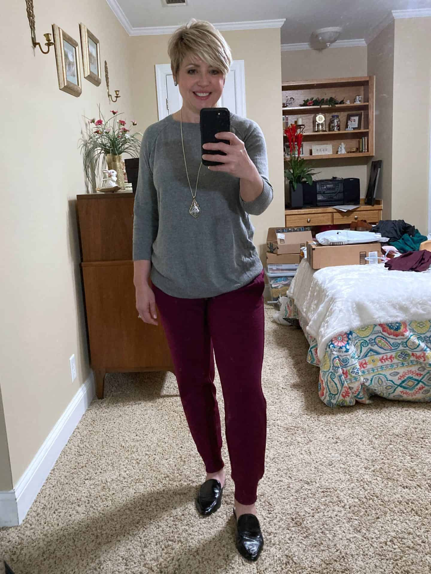 joggers with sweater