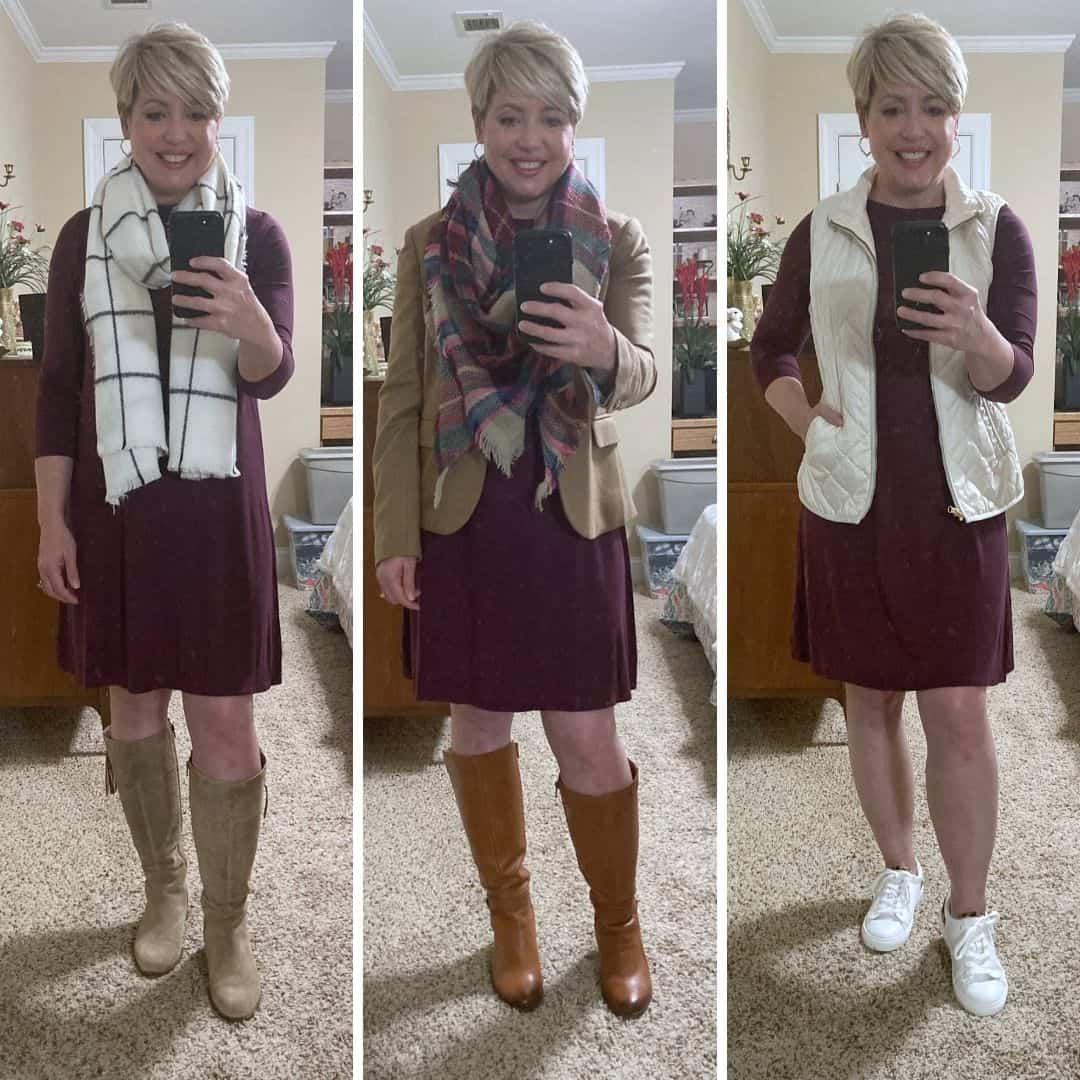 3 ways to wear one dress