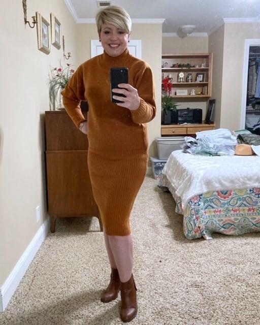 pencil skirt sweater set from Amazon Prime Wardrobe service