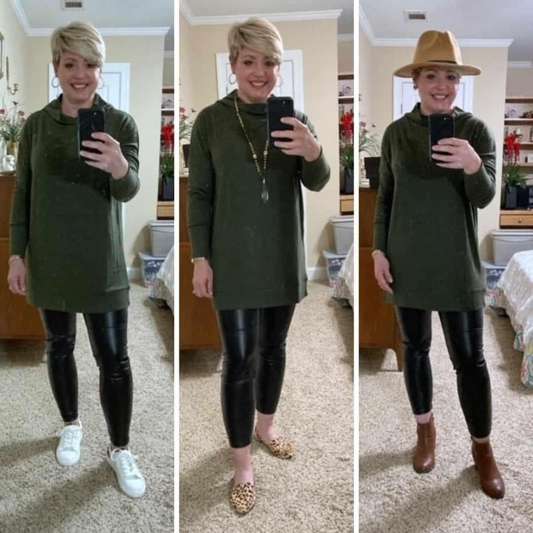 3 ways to wear one tunic