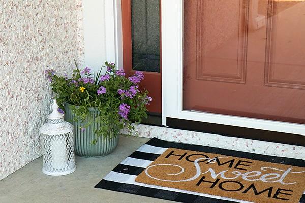 home sweet home door mat with rug