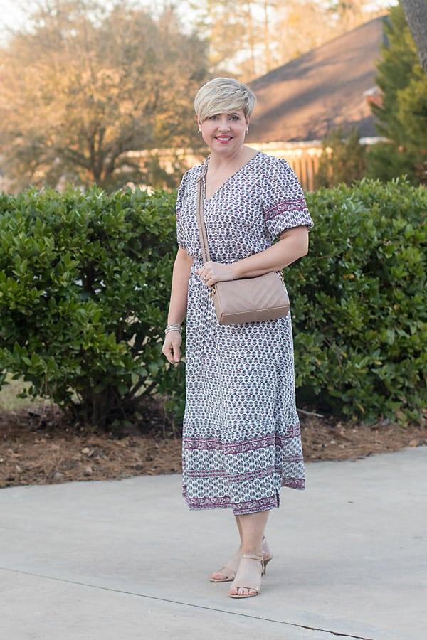 womens petite maxi dress easter outfit idea