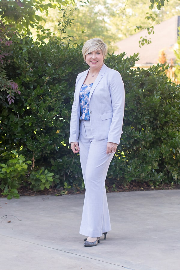 spring suit with camisole