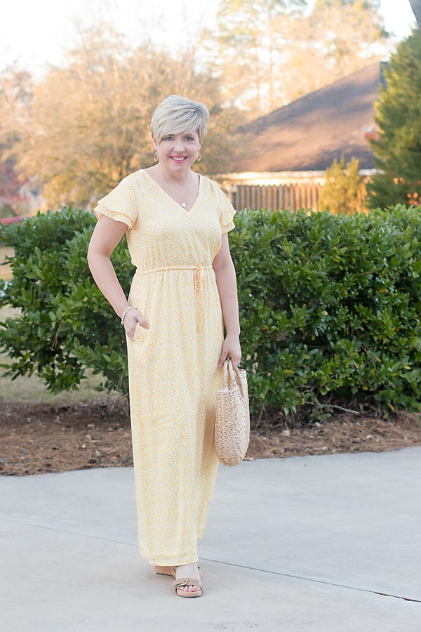 petite length maxi dress with pockets, Easter dress