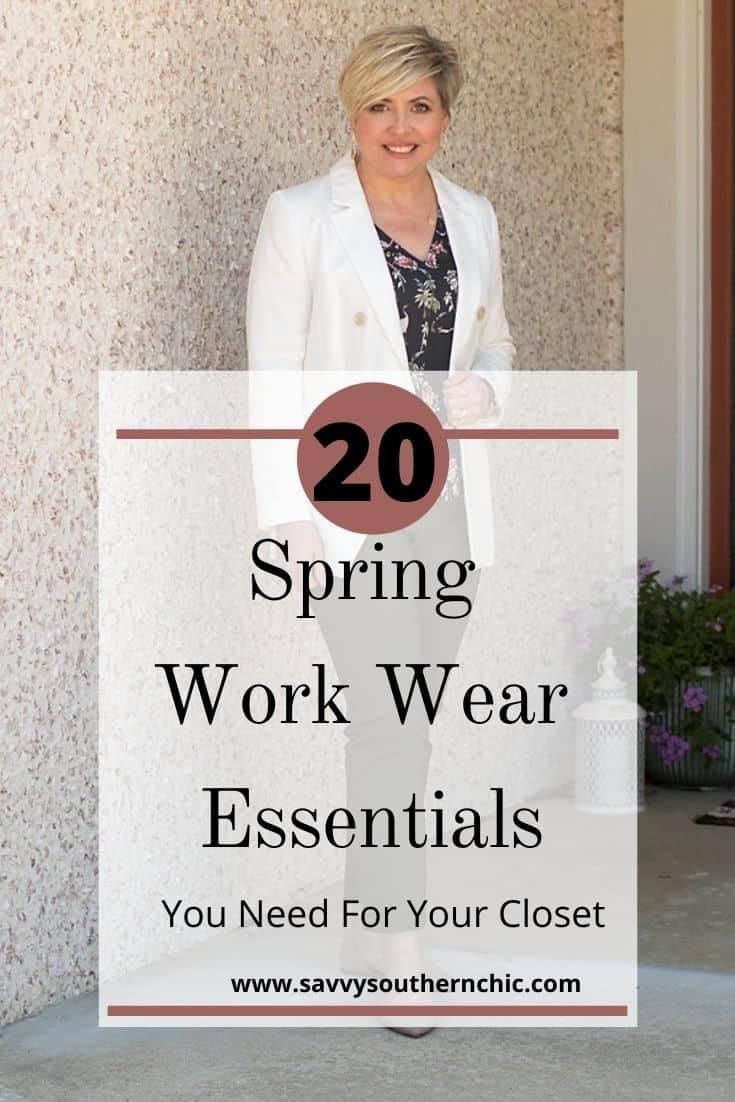 spring work wear essentials
