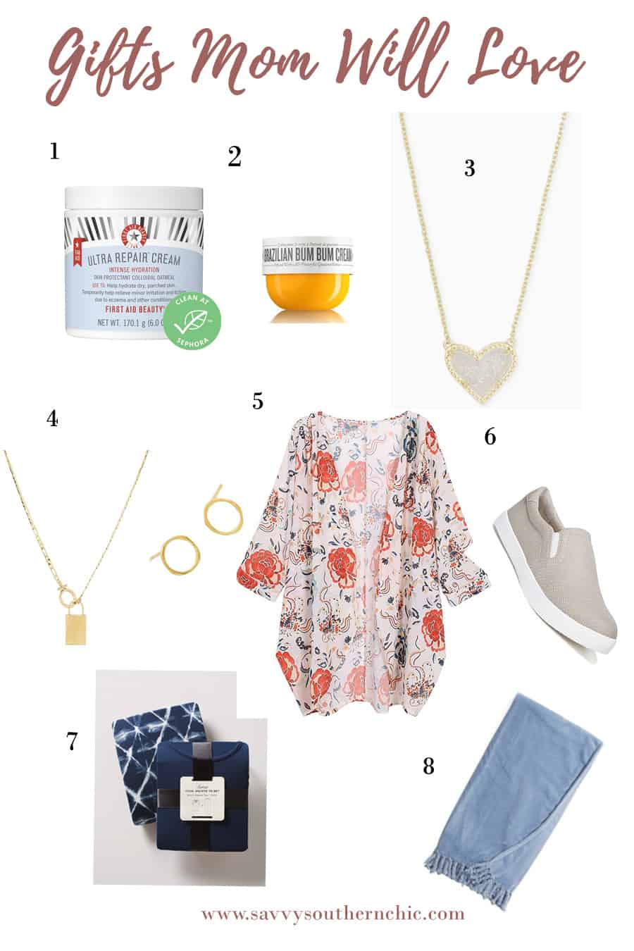 Gift ideas for her, Gifts mom will love featuring First Aid beauty, Kendra Scott, clothing and more