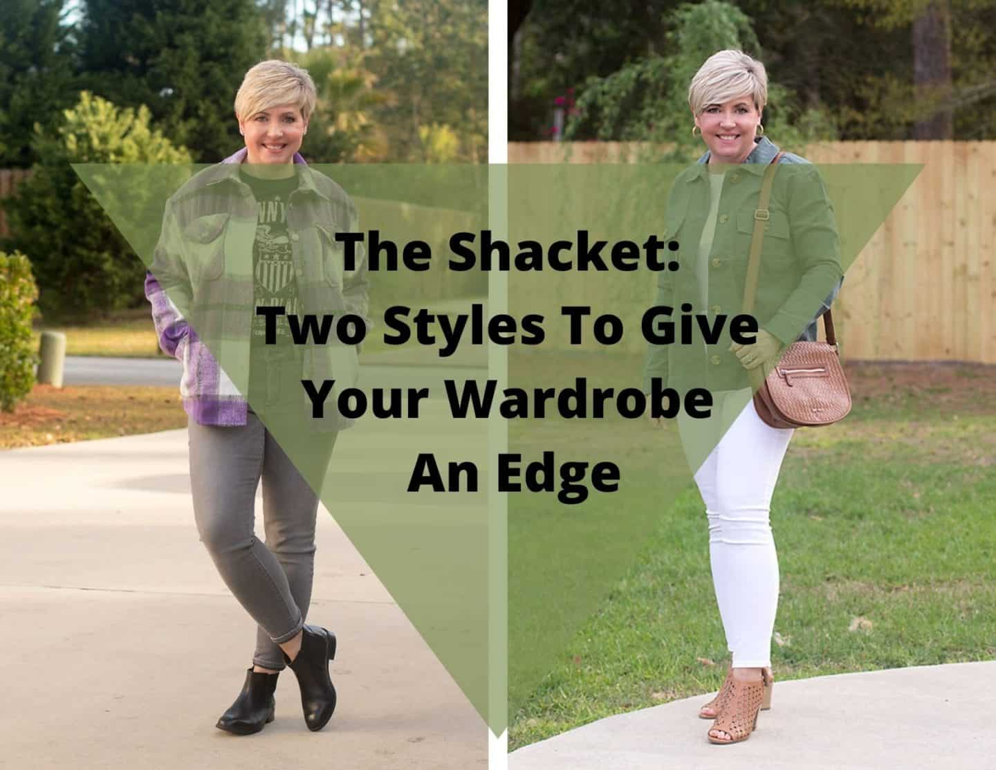 Two shacket outfits for spring